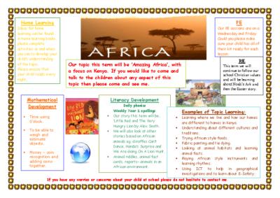 Peacocks Spring Term Newsletter – Africa