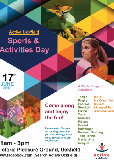 Uckfield Active Sports & Activities Day on 17th June