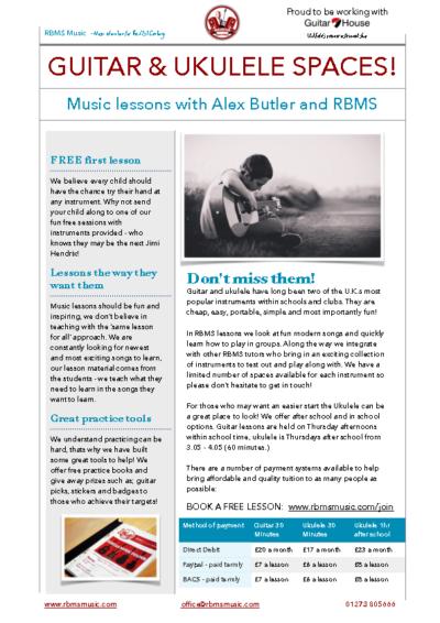 RBMS Guitar & Ukulele Lessons
