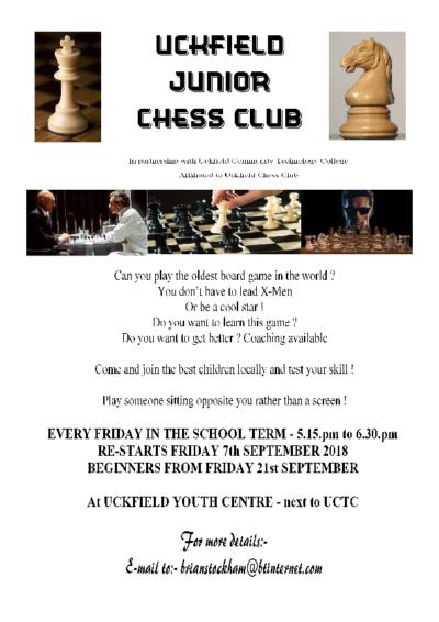 Uckfield Junior Chess Flyer
