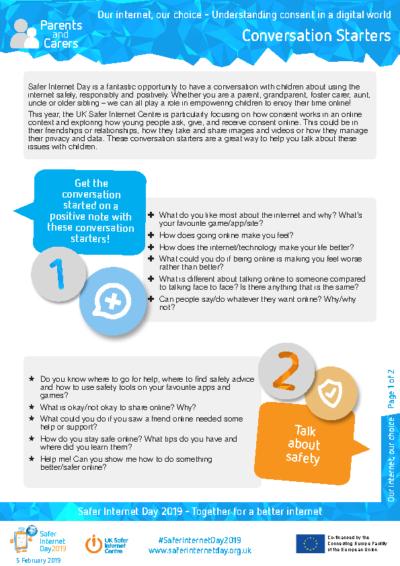 Parents & Carers – Conversation Starters