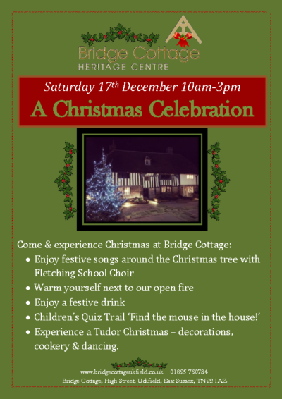 Christmas at Bridge Cottage on 17th Dec