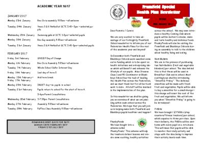 Newsletter 20th January