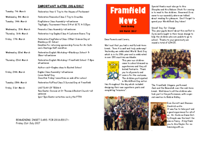 Newsletter 3rd March