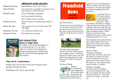 Newsletter 19th May