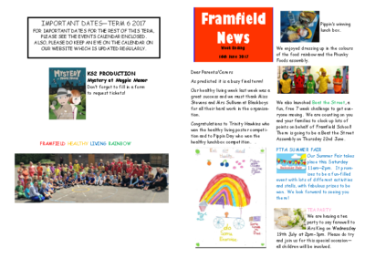 Newsletter 16th June