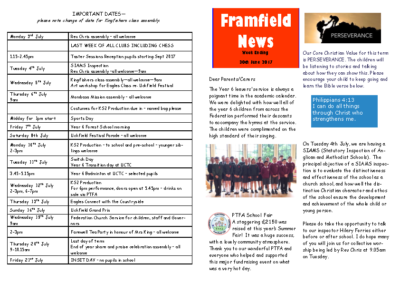 Newsletter 30th June