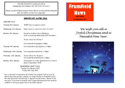 Newsletter 20th December