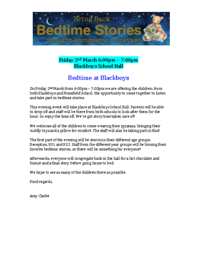 Bedtime at Blackboys on 2nd March