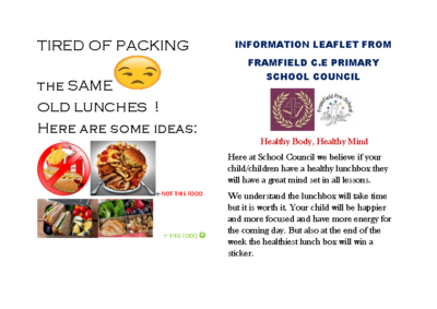 School Council Healthy Lunches