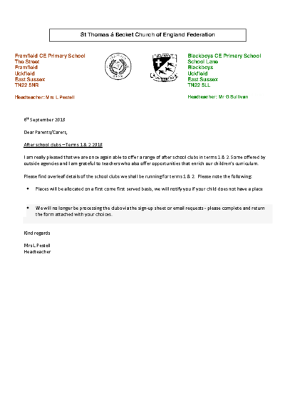 Clubs Terms 1 & 2