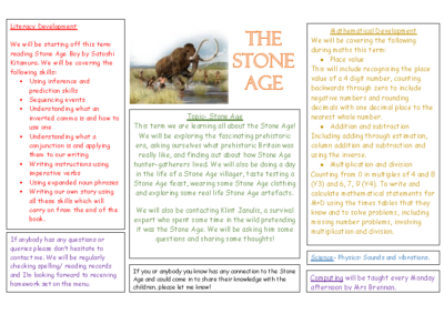 Puffins Autumn Term Newsletter – The Stone Age