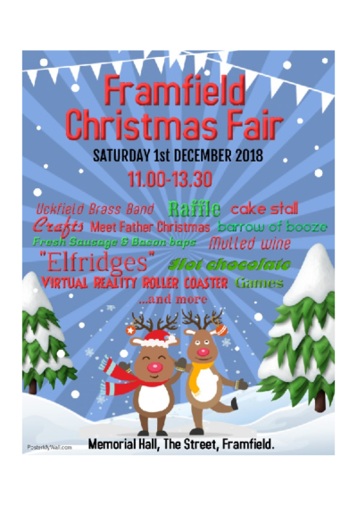 Christmas Fair on 1st December