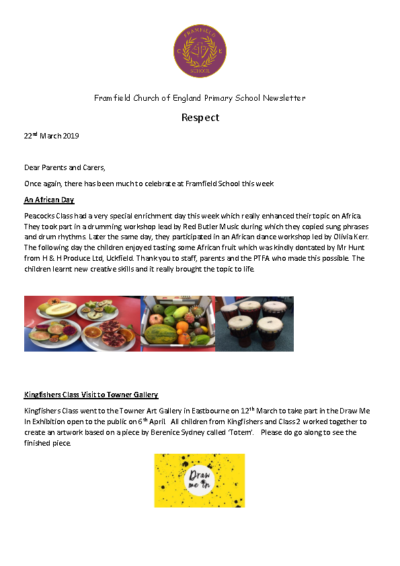 Newsletter 22nd March