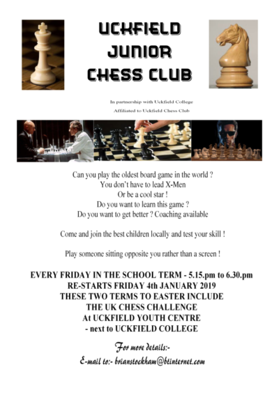 Uckfield Junior Chess Club Flyer