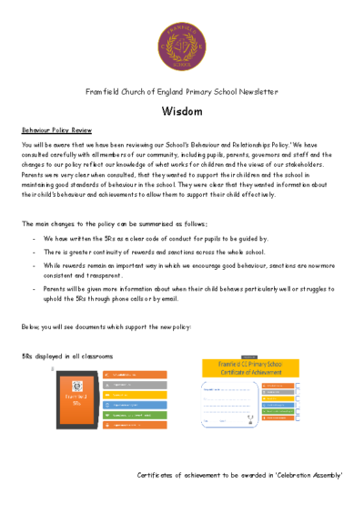 Newsletter 3rd May