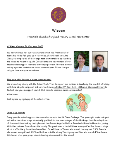 Newsletter 17th May