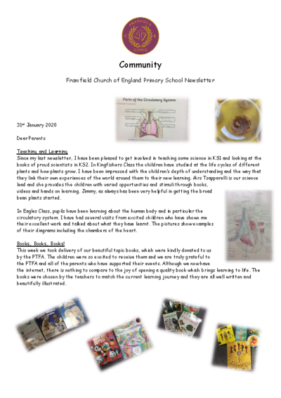 Newsletter 31st January
