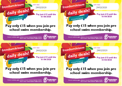 Freedom Leisure Swimming Lessons Offer 2