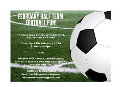Half Term Football Camp on 18 Feb