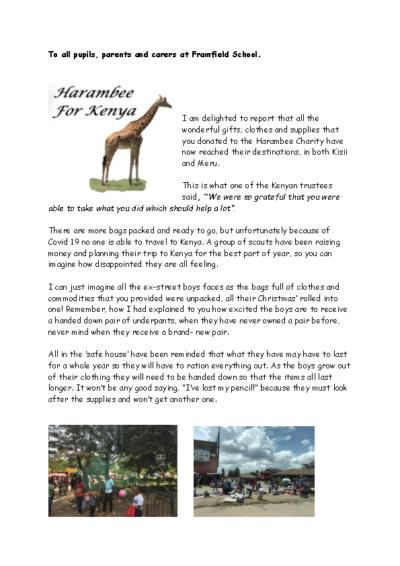 News from Harambee