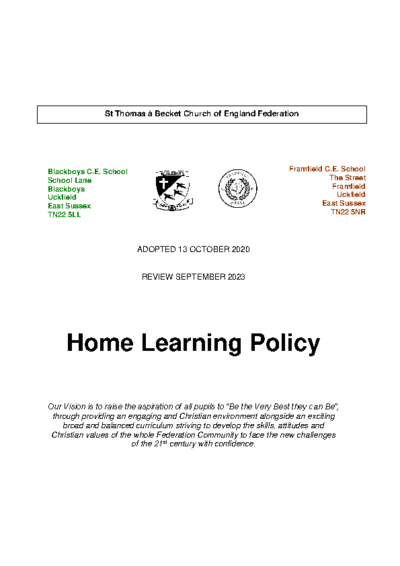 Home Learning Policy