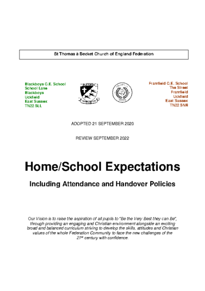 Home School Expectations