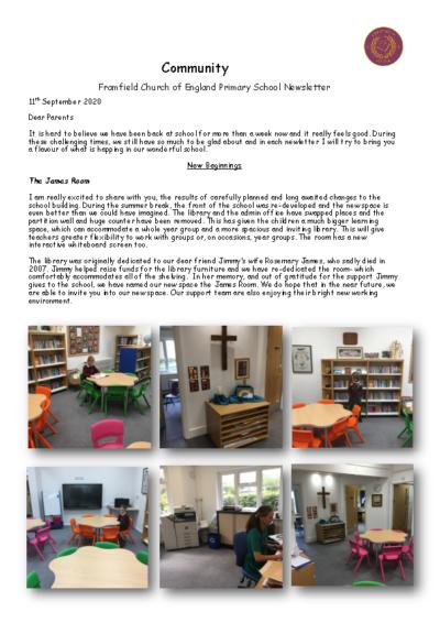 Newsletter 11th September
