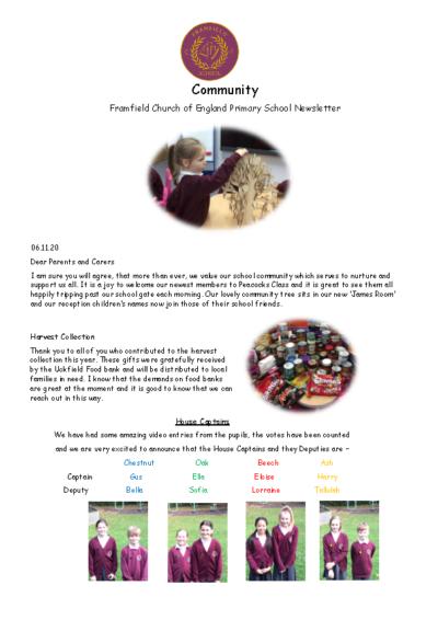Newsletter 6th November