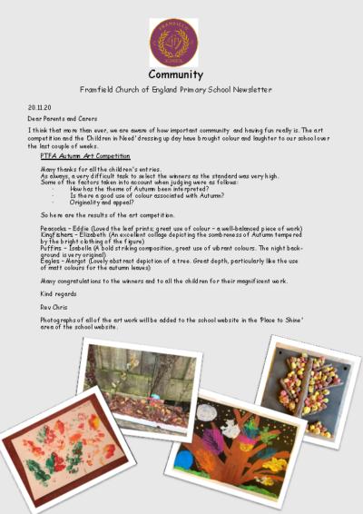 Newsletter 20th November