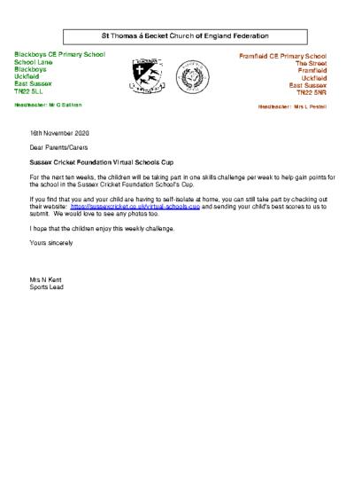 Sussex Cricket Virtual Schools Cup