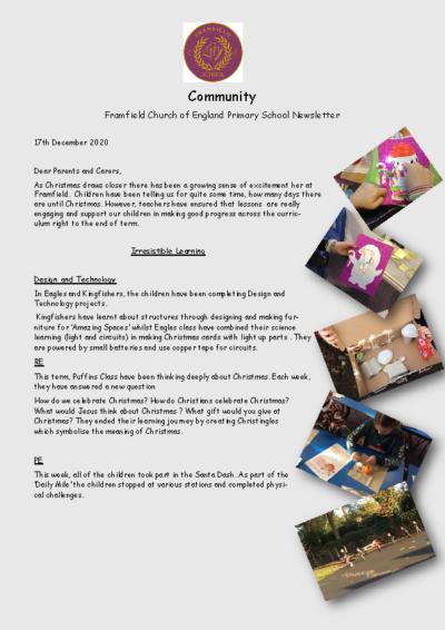 Newsletter 17th December