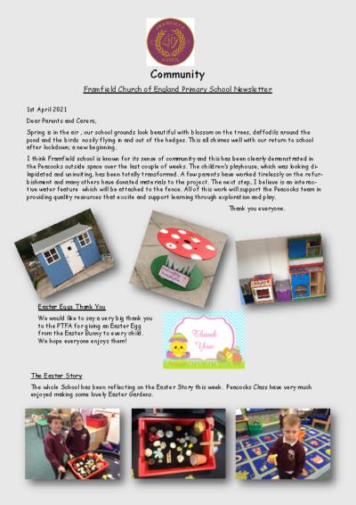 Newsletter 1st April
