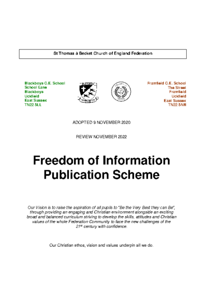 Freedom of Information Policy