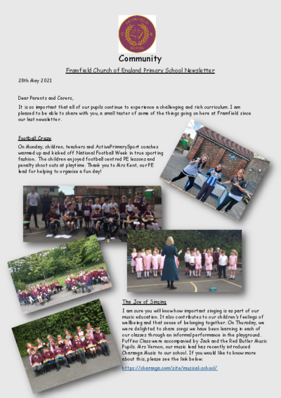 Newsletter 28th May