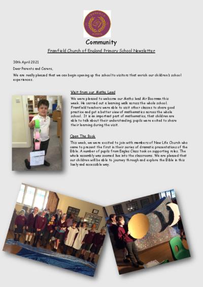 Newsletter 30th April