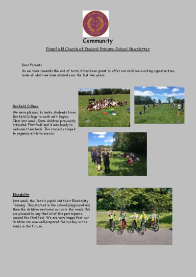 Newsletter 2nd July