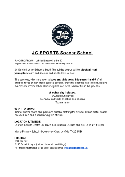 JC SPORTS Soccer School