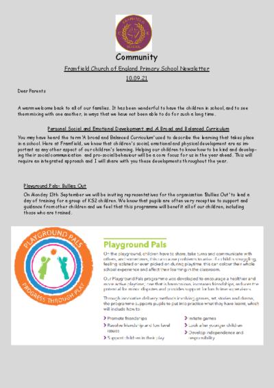 Newsletter 10th September