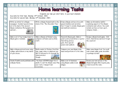 Term 1/2 Home Learning